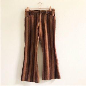 70's Woolen Striped Crop Pants 🎁